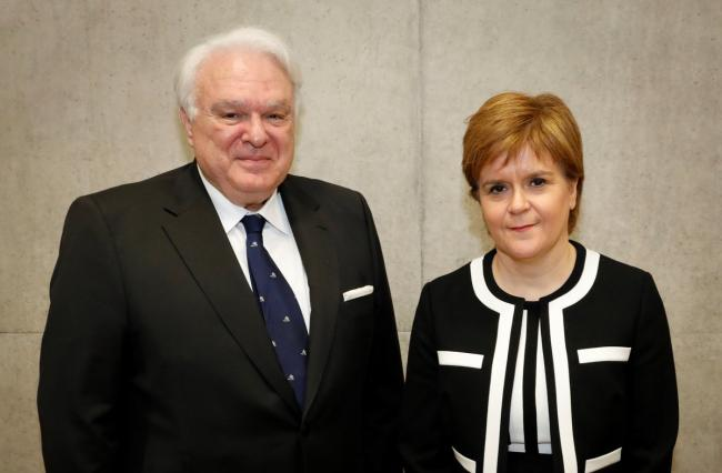 Nicola Sturgeon with Miguel Angel Vecino Quintana, who was dismissed from his post after the letter appeared in The National