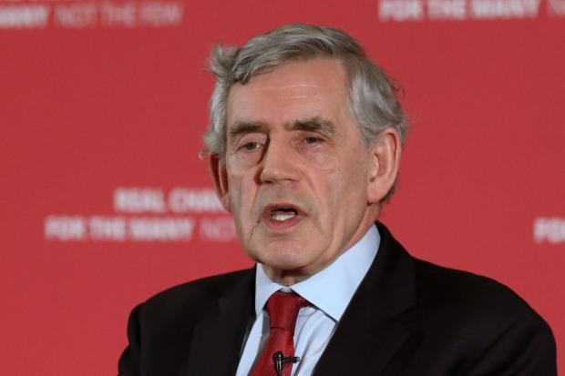 The National: Gordon Brown