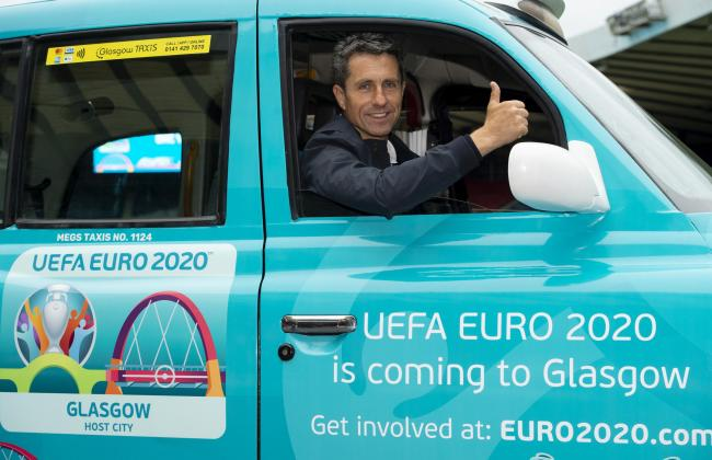 John Collins marks one year until Euro 2020 comes to Glasgow at Hampden.