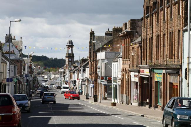 The main street through Castle Douglas, Dumfries and Galloway