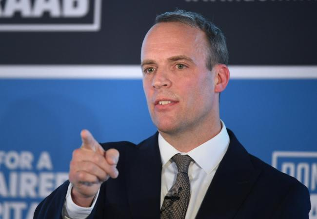 Dominic Raab stated that the US President was 'effusive in his warmth' for the UK'
