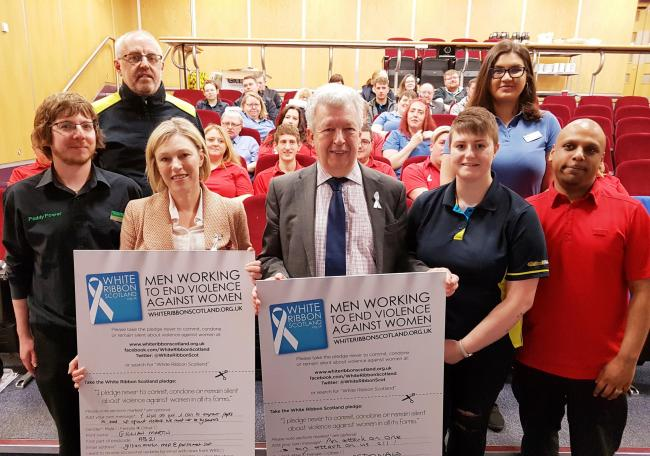 The White Ribbon Scotland team works with men to end gender-based violence