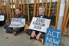 Extinction Rebellion are camping outside the Scottish Parliament