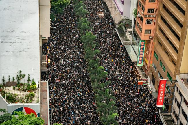 Tens of thousands took to the streets of Hong Kong in protest