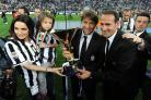 Angelo Alessio, right, with Antonio Conte, centre, during their time at Juventus.